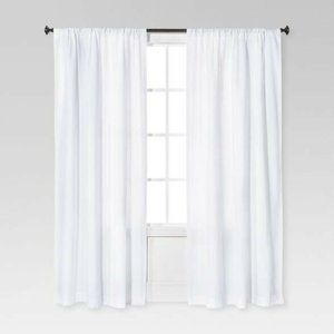 Threshold Light filtering Curtains In Farrah White